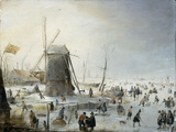 A Winter&#39;s Landscape with Skaters