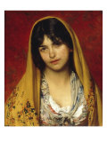 Young Girl with Veil  1882