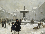A Winter Day in Gammeltorv  Copenhagen  1917
