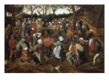 A Wedding Feast with Peasants Dancing