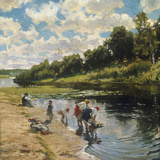 Washing at the River Bank  1922