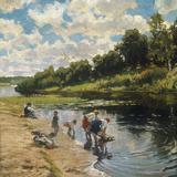 Washing at the River Bank  1922