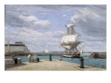 Honfleur  Le Port  c1858-62