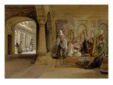 The Mahomedam Hareem  Delhi  1864
