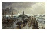Peel Harbour  Isle of Man  1875