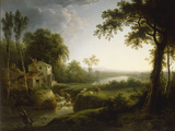 River Landscape with Cattle by a Watermill