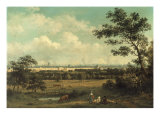 View of Regent's Park and the Colosseum from Primrose Hill