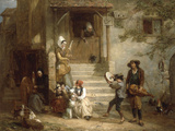 The Troubadors (Street musicians)  1842