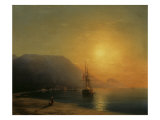 Sunset off Ayu Dag in the Crimea  1861