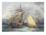 Papal Galleys and Ships of War  c1850