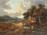 Landscape with Rustics and Donkeys on a Path