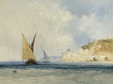 Shipping off the Mediterranean Coast  1848