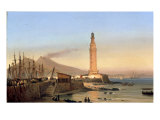 A View of the Lighthouse of Santa Lucia  Naples