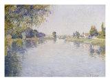 Vue de la Seine et de la Rive d'Argenteuil  vers le Pont de Bezons  c1887