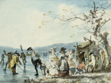 Skaters on the Serpentine  Hyde Park  London  1786