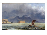 Storm Passing over Vesuvius  c1840-50