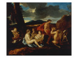 A Bacchanal with Satyrs and other Figures in a Landscape