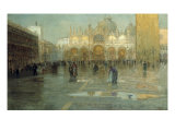 Piazza San Marco after the Rain  Venice  1914