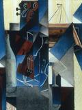 Violon et gravure accrochee (Violin and print)  1913