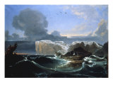 Stormy Seas by the Cliffs  1845