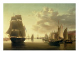 HM Brig Rose Leaving Portsmouth Harbour
