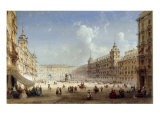A View of the Plaza Mayor  Madrid