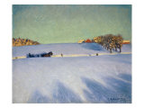 A Sleigh in a Snowbound Landscape