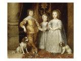 The Three Children of Charles I  1635