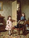 A Rehearsal on the Sly  1875
