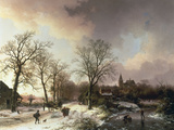 Figures in a Winter Landscape  1842