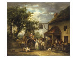 In Front of the Bell Inn  1793