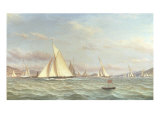 The Yacht 'Aron' Winning the Opening Cruise of the Clyde Yacht Club  1871