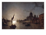 Moonlight on the Grand Canal  Venice