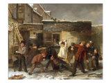 Boys Snowballing  1853
