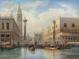 La Piazza San Marco  Venice  1864