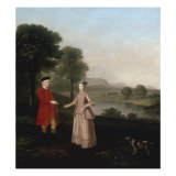 Portrait of Mr and Mrs John Broadhurst of Foston Hall  Derbyshire