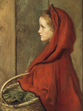 Red Riding Hood (A Portrait of Effie Millais  the artist&#39;s daughter)