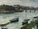 La Berge et le Pont d&#39;Argenteuil  1882