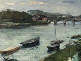 La Berge et le Pont d'Argenteuil  1882
