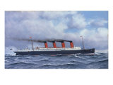 The Liner 'Lusitania'  1908
