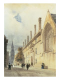 Jesus College from Thurl Street  Oxford  1832