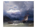 Shipping in Stormy Seas  1868