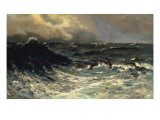 Dolphins in a Rough Sea  1894