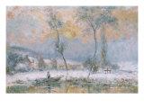 Lever du Soleil  par la Neige  sur L'Etang de Chalon-Moulineux