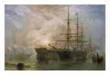 Her Majesty's Troop Ships receiving Stores in Portsmouth Harbour  1880