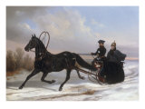 Emperor Nicholas I Pavlovich in a Horse-Drawn Brichka