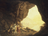 A Grotto in the Kingdom of Naples  with Banditti  at Sunset  c1777-78
