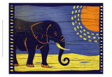 Woodblock Elephant