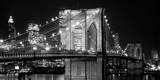 Le pont de Brooklyn de nuit, New York Reproduction d'art par Jet Lowe
