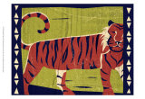 Woodblock Tiger